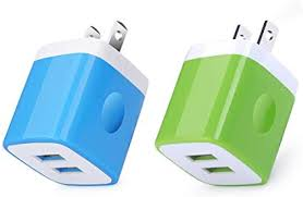 Wall Charger Plug,2-Pack 2.1A/5V Dual Port Cell ... - Amazon.com
