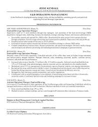 food service resume template food and beverage resume examples service manager resume examples