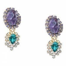 <b>Позолоченные</b> серьги-шандельеры с кристаллами, из коллекции ...