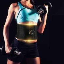 EMS Abdominal Waist Support Vibration Fitness Massager <b>Belt</b> ...