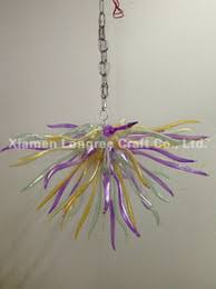 c86 italy design colored blown glass hanging led fancy chandelier light long chain art decor modern crystal pendant lamps chandelier modern italy blown glass