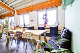 greenhouse themed office interiors bright office