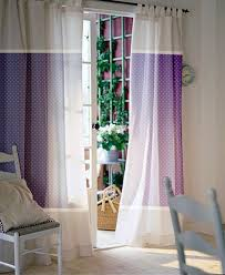 drapes patio coorful pillow dark purple and white polka dot pattern curtain for french patio door