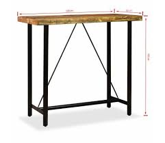 vidaXL Solid <b>Reclaimed Teak</b> Bar Set 7 Piece Kitchen Furniture ...