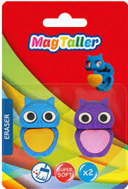 <b>Ластик MAGTALLER OWL</b>, 2шт, блистер 605010 – купить в сети ...