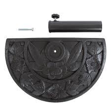 <b>Half Round</b> Umbrella Holder - 20 Pound Weighted Semicircle ...