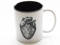 anatomical heart coffee mug human body anatomy cardiology medical office home kitchen decor anatomy home office