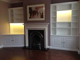 white painted alcove shelving units with lighting modern living room alcove lighting ideas