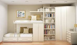awesome teenage girls bedroom design with bunk bed connected by tall wooden wall bookshelf and corner bedroom teen girl rooms walk