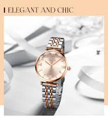 CIVO Luxury <b>Crystal</b> Watch <b>Women</b> Waterproof Rose Gold Steel ...
