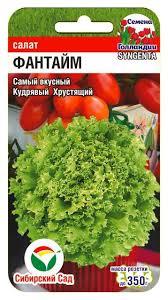 <b>Семена Салат Фантайм</b>, 10 шт, Сибирский сад от 35 р., купить ...