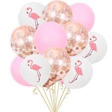 12Inch Flamingo Pineapple Confetti Turtle Leaf Balloon Latex ...