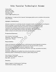 echo vascular technologist resume sample sonographer resume vascular technologist cover letter