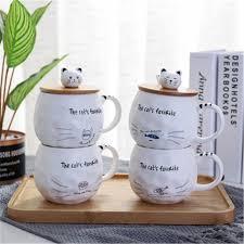 Buy <b>1Pc</b> Coffee Mug <b>Cartoon Cute</b> Cat Pattern Ceramic Milk Cup ...