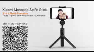 <b>Original Xiaomi Foldable</b> Bluetooth Monopod Tripod Selfie Stick ...