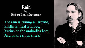 Image result for Robert Louis Stevenson Rain
