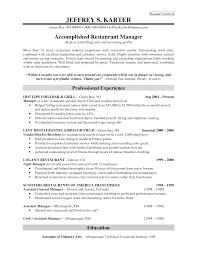 bar manager resume   holidayclub bar restaurant manager resume résumé solution jeffrey s karter by