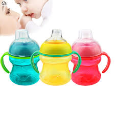 200ml Baby Leak-proof Drinking Bottle <b>Silica Gel Training</b> Cup with ...