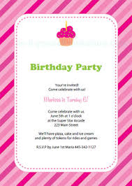 Free Printable Birthday Party Invitation Templates Cupcake Birthday Invitations