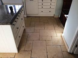limestone tiles kitchen: limestone kitchen floor stains before cleaning