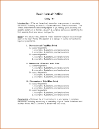 essay outline formal essay outline