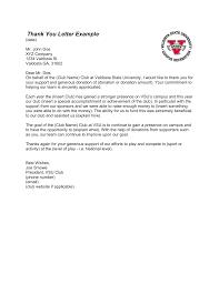 thank you letter example valdosta state university