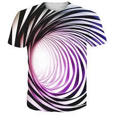 3D Digital Printed Space Colorful Swirl Pattern Men's <b>Summer</b> ...