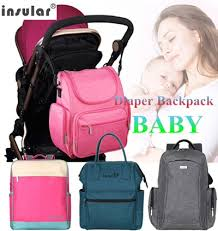 <b>INSULAR</b>® <b>Baby</b> Diaper Backpacks Multifunctional <b>Changing Bags</b> ...
