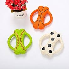 Buy Allwin <b>Pet Dog Toy</b> Bite-Resistant <b>Molar</b> Latex Bone Ring Bite ...