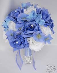 <b>17pcs</b> Wedding Bridal Bouquet Silk Flower Decoration Package ...