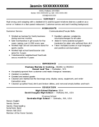 Wait Staff Resume Example (The Swinging Hookah) - Fresno, California Lisa S.