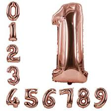 Rose Gold Number Balloons 40inch Helium Birthday ... - Amazon.com