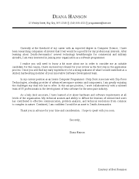 computer science cover letter sample cover letters samples