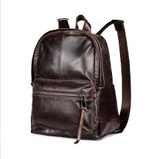 New Arrival Men <b>Genuine Leather</b> Backpack Luxury Laptop Bag ...