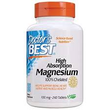 Doctor's Best, <b>High Absorption Magnesium</b>, 100% Chelated, 240 ...