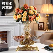 <b>European</b> Crystal Glass Fruit Platter modern living room creative ...