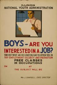 vintage jobs poster stock photo public pictures vintage jobs poster