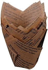 Lembeauty <b>50pcs</b> Tulip Baking Cups, <b>Newspaper Style</b> Paper ...