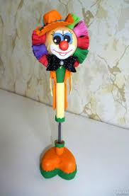 фоамиран <b>Кукла</b>-<b>ручка</b> Клоун — купить в Красноярске. Состояние