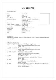 example of job resume in malaysia   free sample resumes    example of job resume in malaysia