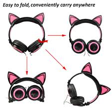 For Pc Gamer <b>Cute</b> Led Cosplay <b>Cat</b> Ear <b>Bluetooth</b> Wireless ...