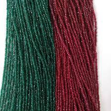 <b>Wholesale</b> Cut <b>Faceted Natural Stone</b> Beads Smooth Dye Dark ...