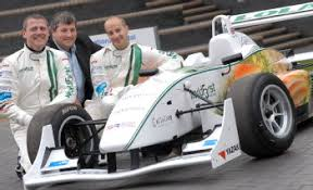 Formula 3 <b>racing car</b> powered by chocolate and steered by carrots