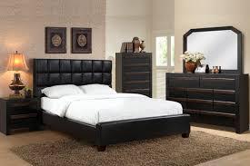 4 pc queen bedroom set faux leather headboard bedroom furniture