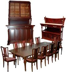 13 pc french art nouveau mixed wood dining set by hector guimard for sale art deco dining 13