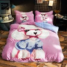 <b>Cartoon</b> Poodle <b>Lion Rabbit</b> Dog Warm Fleece Fabric Child Bedding ...
