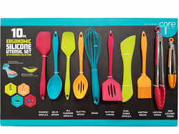 quality pcs set kitchen silicone spatulas core kitchen ergonomic silicone utensil set with overmold solid core