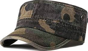 Unisex <b>Military Army Hat</b> Men Women <b>Flat Top Cap</b> Adjustable ...