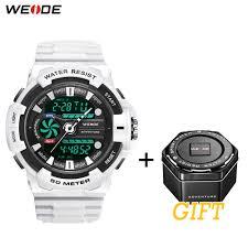 <b>WEIDE</b> Men's <b>Sport</b> Casual Model LCD Digital Quartz PU Strap ...