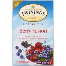 Twinings, <b>Травяной чай</b>, смесь ягод, <b>без кофеина</b>, 20 отдельных ...